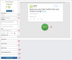 how to use fake twitter tweet generator