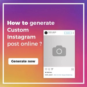 Fake Instagram Post Generator